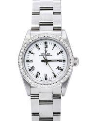 Rolex - Pre-owned 31mm Diamond Oyster Bracelet Watch - Lyst