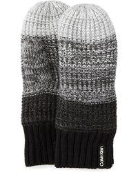 Calvin Klein - Ombre Knit Mittens - Lyst