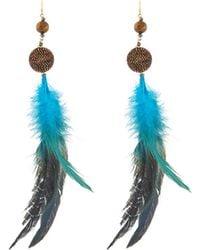 Nakamol | Feather & Beaded Drop Earrings | Lyst