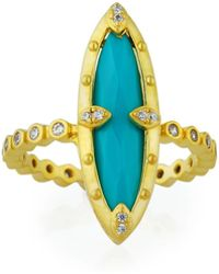 Freida Rothman - Amazonian Allure Turquoise Cocktail Ring - Lyst
