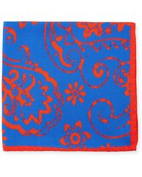 Bugatchi - Paisley-print Silk Pocket Square - Lyst