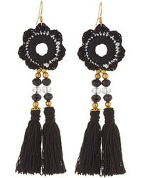 Panacea - Mirror Embroidery Tassel Earrings - Lyst