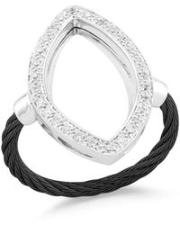 Alor - Open Diamond Pavé Marquise Ring - Lyst