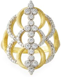 Jude Frances - 18k Moroccan Open Diamond Quad Crescent Ring - Lyst