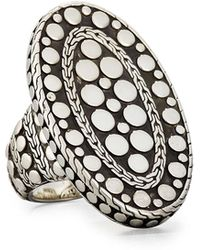 John Hardy - Oval Dot Ring - Lyst
