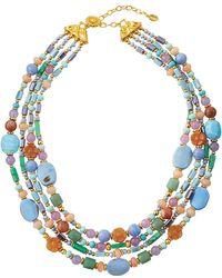 Jose & Maria Barrera Short Layered Watercolor Necklace