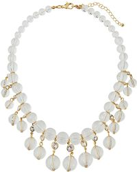 Fragments - Lucite® & Crystal Statement Necklace - Lyst