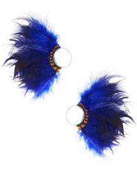 Nakamol - Feather Thread-through Hoop Earrings - Lyst