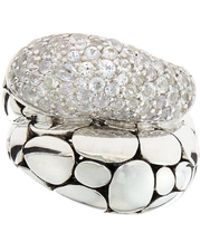 John Hardy - Kali Arus Pebble Cocktail Ring With White Sapphires - Lyst