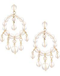 Fragments - Lucite® & Crystal Chandelier Earrings - Lyst