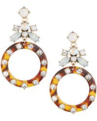Fragments - Tortoise Shell Drop Earrings - Lyst