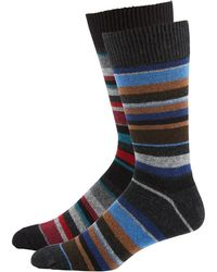 Punto - Men's Striped Knit Socks - Lyst