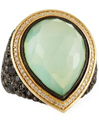 Armenta - Doublet Pear Cluster Ring W/ 18k Gold - Lyst