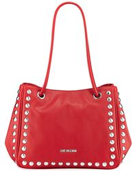 Love Moschino - Studded Faux-leather Satchel Bag - Lyst