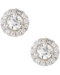 Neiman Marcus - 18k White Gold Diamond Stud Earrings - Lyst