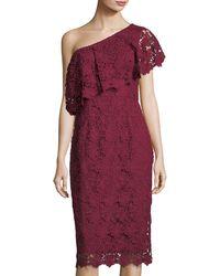 Nanette Nanette Lepore - Asymmetric Lace Cocktail Dress - Lyst