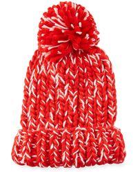 San Diego Hat Company - Chunky Marled Knit Beanie W/ Pompom - Lyst