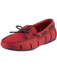 Swims - Men's Mesh & Rubber Braided-lace Boat Shoe - Lyst