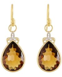 Jude Frances | Large Pear Stone Fleur Earring Charms | Lyst