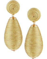 Lydell NYC - Thread Wrapped Pear Earrings - Lyst