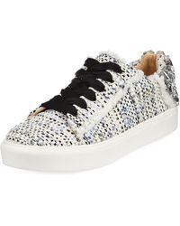 Neiman Marcus - Metallic Tweed Embellished Sneakers - Lyst