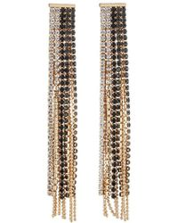 Fragments - Mixed Crystal Fringe Drop Earrings - Lyst