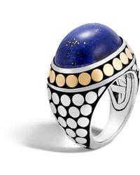 John Hardy - Dot Lapis Lazuli Silver Dome Ring - Lyst