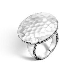 John Hardy | Palu Silver Round Ring | Lyst