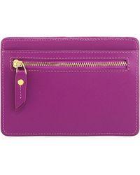 Neiman Marcus - Saffiano Leather Short Card Organizer Case - Lyst