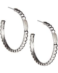John Hardy - Bedeg Pavé Diamond Hoop Earrings - Lyst