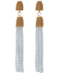 Lydell NYC | Beaded Tassel Linear Drop Earrings | Lyst
