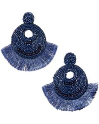Lydell NYC - Seed Bead & Fringe Earrings - Lyst