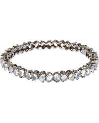 Bavna - Rainbow Moonstone & Diamond Bangle Bracelet - Lyst