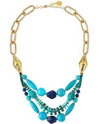 Devon Leigh - Turquoise & Lapis Multi-strand Necklace - Lyst