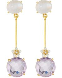 Indulgems - Stone Dangle Earrings - Lyst