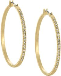 Laundry by Shelli Segal - Large Pave Hoop Earrings - Lyst