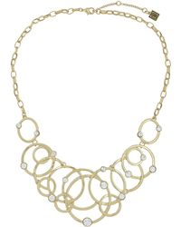 Laundry by Shelli Segal - Linked Circle Bib Necklace - Lyst