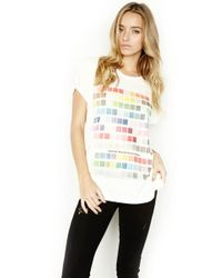 Lauren Moshi - Briley Colors S/s Tee W/ Open Back - Lyst