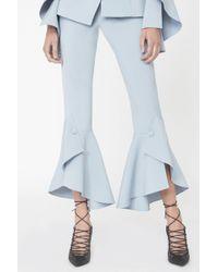 Lavish Alice   Bell Ruffle Tailored Trousers In Light Blue   Lyst