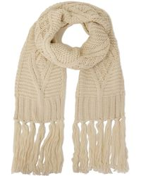 Lavish Alice - Cream Knit Scarf - Lyst