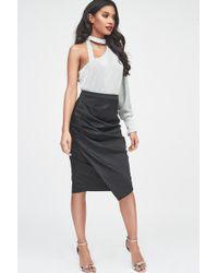 Lavish Alice - Sequin Embellished Bodysuit In Silver Iridescent - Lyst