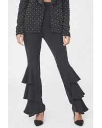 Lavish Alice   Frill Side Tailored Trousers   Lyst