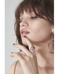 Lavish Alice - Split Circle Ring In Sterling Silver - Lyst