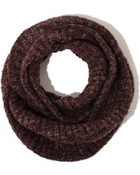 Lavish Alice - Burgundy Salt & Pepper Knit Snood Scarf - Lyst