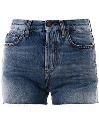 Saint Laurent - Shorts in Denim - Lyst