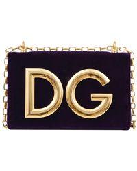 Dolce & Gabbana - Velvet Dg Girls Crossbody Bag - Lyst