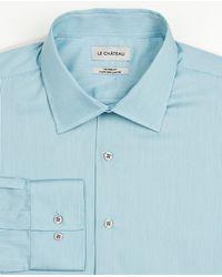 Le Chateau - Stripe Cotton Tailored Fit Shirt - Lyst