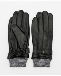 Le Chateau - Leather Gloves - Lyst