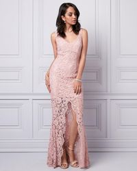 Le Chateau - Corded Lace V-neck Gown - Lyst