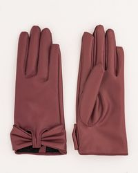 Le Chateau - Leather-like Gloves - Lyst